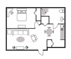 1 Bedroom Apartment Burtons Ridge